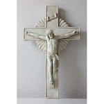 Large Christ on Crucifix Wall Plaque