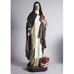 Large Saint Teresa Statue in Color