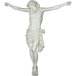 Crucified Christ With Face Down Statue