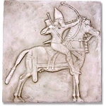 Horseman with Bow Wall Plaque