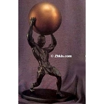 Large Atlas Holding Sphere Statue