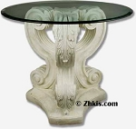 Scroll Leaf Patio Table Base