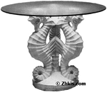 Sea Horses Patio Table