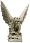 Bulldog Gargoyle with Wings