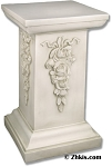 Large Square Pedestal With Roses