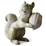 Squirrel with Big Nut Statue
