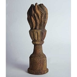 Tall Finial with Flame