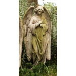 Angel Head Bowed Statue