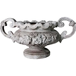 Ornate Rose Urn With Handles