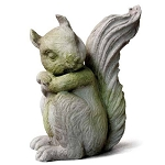 Sitting Squirrel Statue