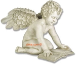 Garden Angel Reading Bible