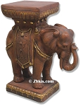 Elephant Pedestal End Table