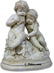 Children Playing in Garden Statue