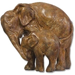 Elephant with Calf Statue