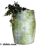 Wooden Barrel Style Planter