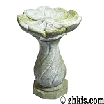 Birdbath with Flower Design