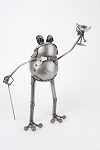 Toad Metal Sculpture