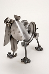 Bulldog Metal Sculpture