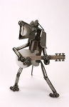 Dog with Electric Guitar Sculpture