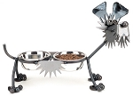 Terrier Dog Feeder Sculpture