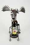 Drunk Moose Wine Caddy Sculpture