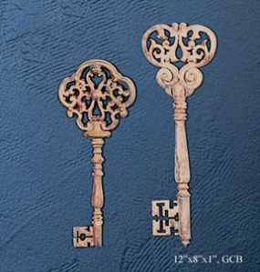 Small French Keys Wall Sculpture (2 Piece)