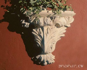 Leafy Wall Shelf Bracket