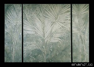 Palm Fossil Wall Plaques (3 Piece)