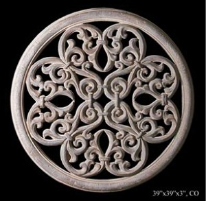 Round Curling Scrolls Wall Grille