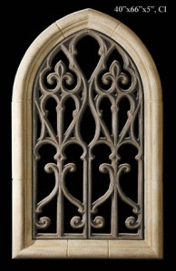 Large Gothic Window Wall Sculpture
