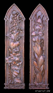 Long Flower Wall Panels (2 Piece)