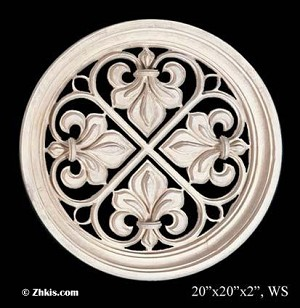 Round Grille Wall Sculpture