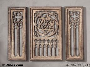 Grille Wall Sculpture Set