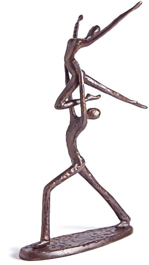 Dancer Carrying Ballerina Figurine