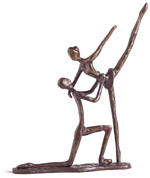 Dancing Couple Bronze Statue
