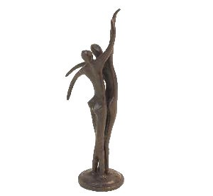 Contemporary Couple Dancing Statue