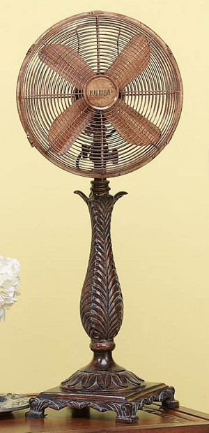 Brown Metal Table Fan