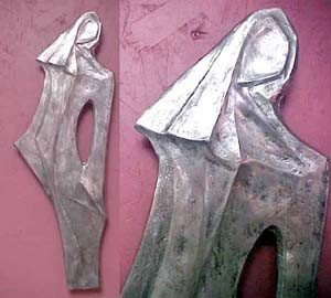 Abstract Woman Metal Wall Sculpture