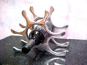 Contemporary Metal Wine Rack