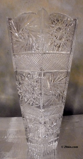 Large Cut Glass Vase