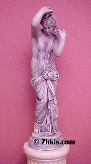 Venus With Hands in Hair Statue