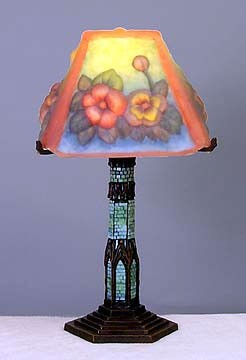 Painted Flower Table Lamp