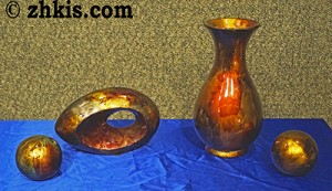 Raku Vase and Sculpture Set
