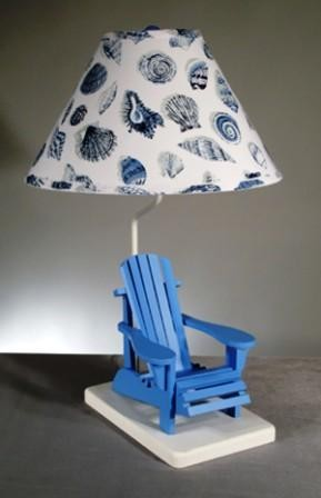 Beach Chair Lamp with Sea Shell Shade