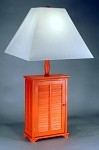 Red Shutter Table Lamp