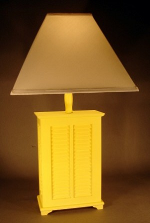 Yellow Shutter Accent Lamp