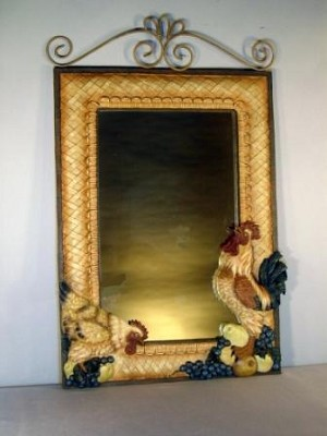 Rooster Wall Mirror