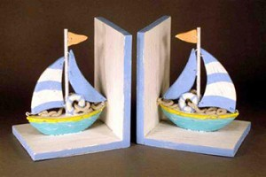 Colorful Sailboat Bookends