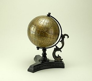 Old World Metal Globe