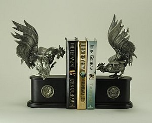 Fighting Rooster Bookends